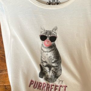 Kids Juicy Couture long sleeve Cat t-shirt